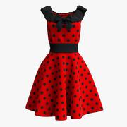 Красное платье 3d model