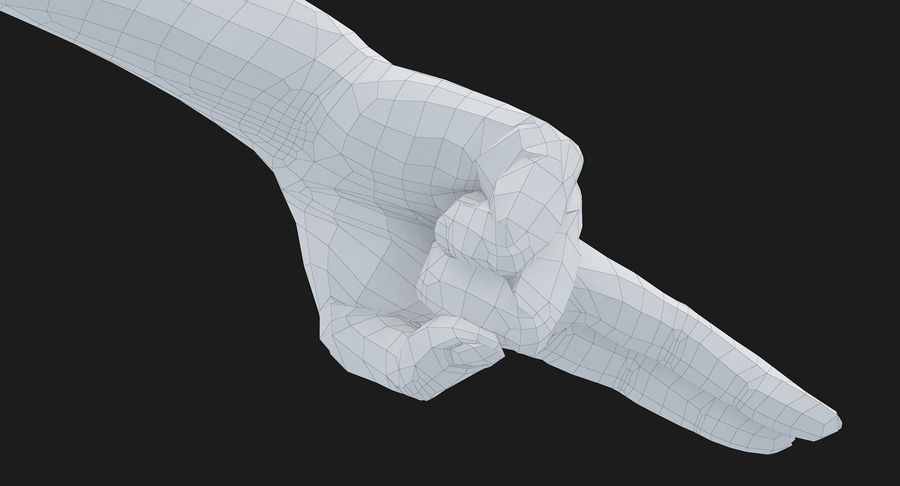 Female Arm A (Pose F Textured) Two Fingers royalty-free 3d model - Preview no. 46