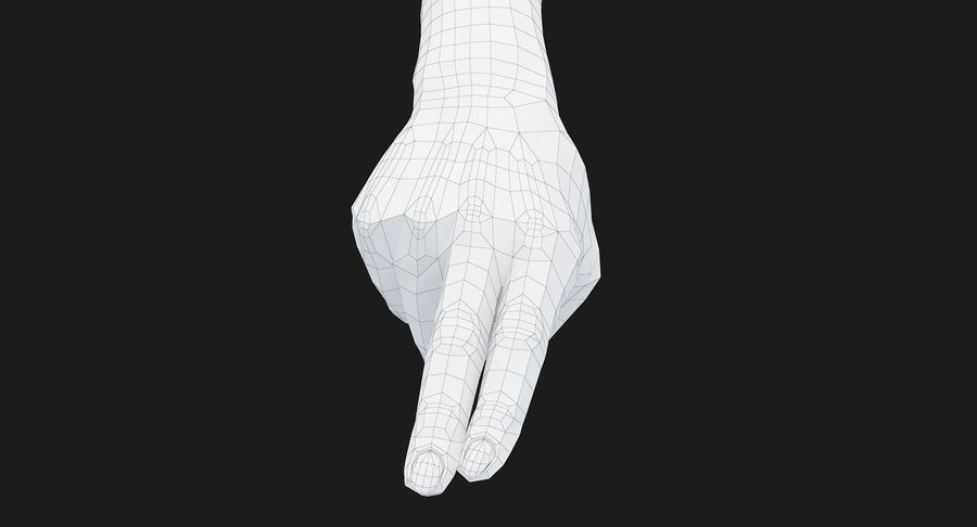 Female Arm A (Pose F Textured) Two Fingers royalty-free 3d model - Preview no. 53