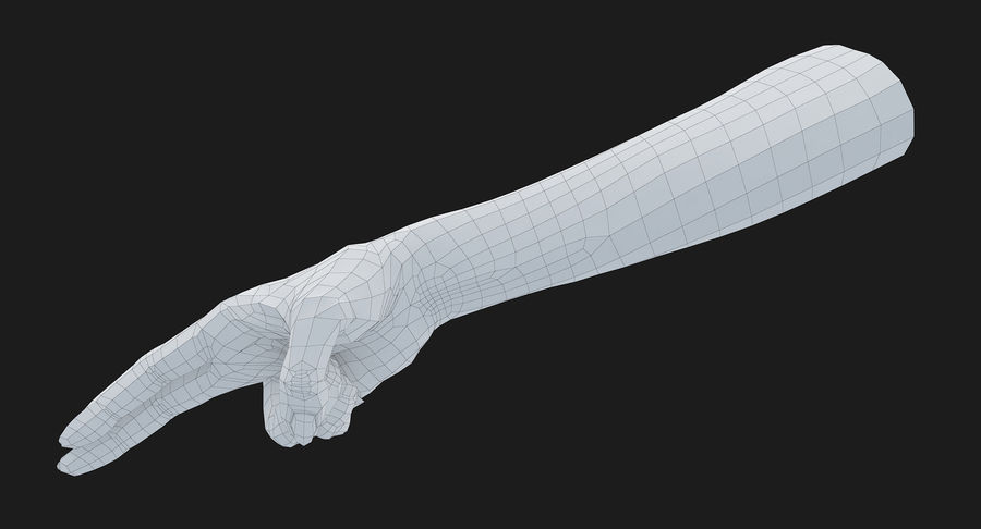 Female Arm A (Pose F Textured) Two Fingers royalty-free 3d model - Preview no. 34