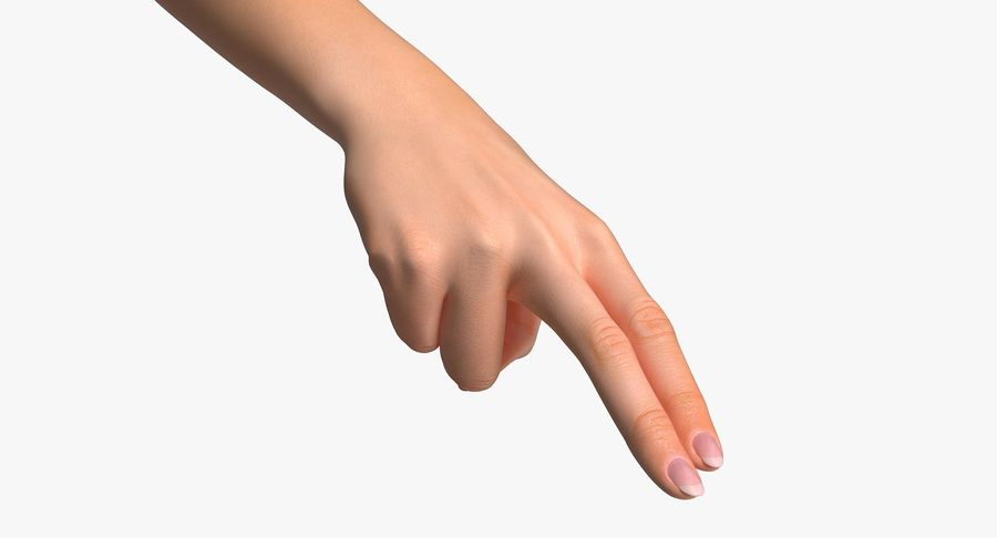 Female Arm A (Pose F Textured) Two Fingers royalty-free 3d model - Preview no. 2