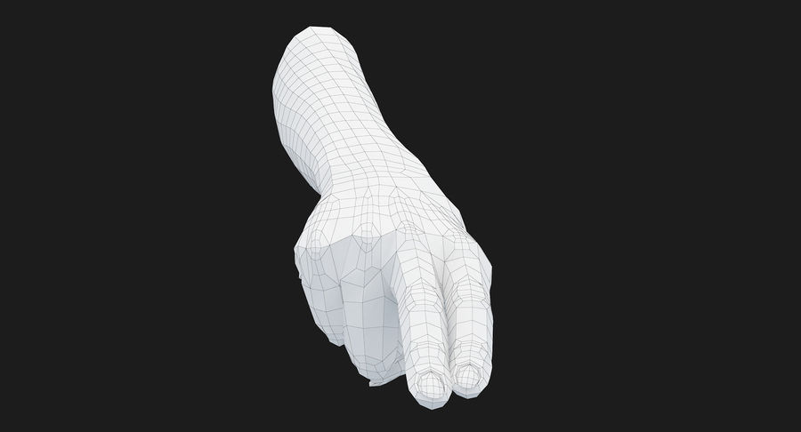Female Arm A (Pose F Textured) Two Fingers royalty-free 3d model - Preview no. 39