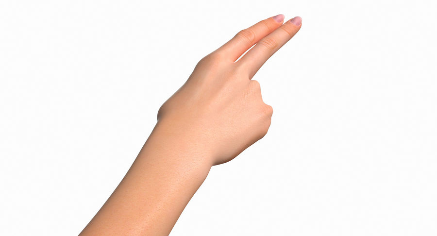 Female Arm A (Pose F Textured) Two Fingers royalty-free 3d model - Preview no. 20