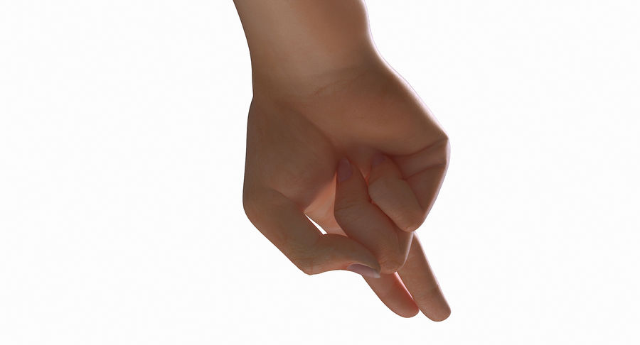Female Arm A (Pose F Textured) Two Fingers royalty-free 3d model - Preview no. 22