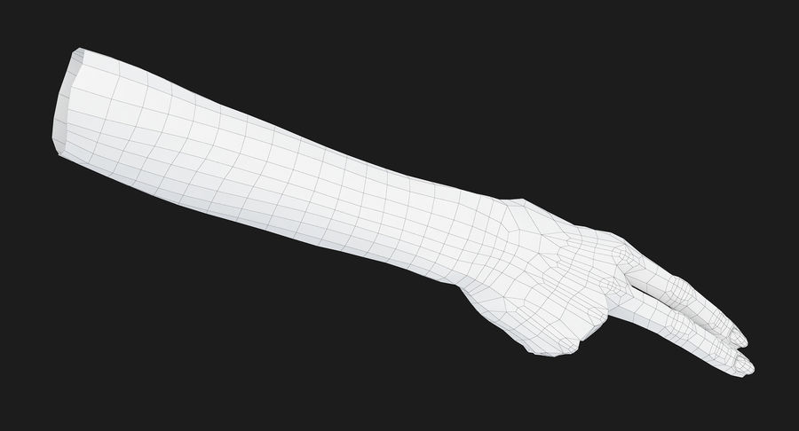 Female Arm A (Pose F Textured) Two Fingers royalty-free 3d model - Preview no. 37