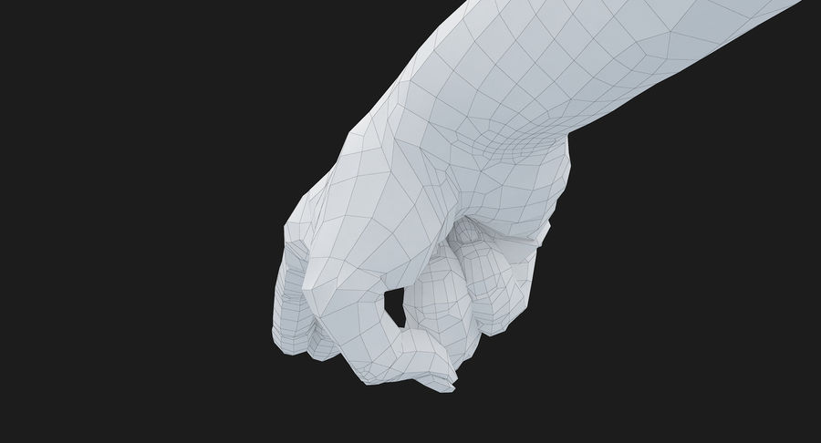 Female Arm A (Pose F Textured) Two Fingers royalty-free 3d model - Preview no. 49
