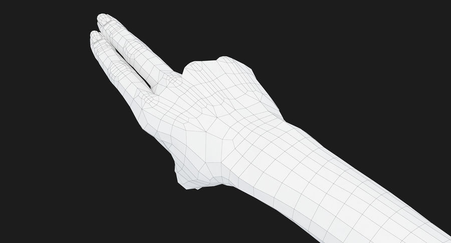 Female Arm A (Pose F Textured) Two Fingers royalty-free 3d model - Preview no. 44