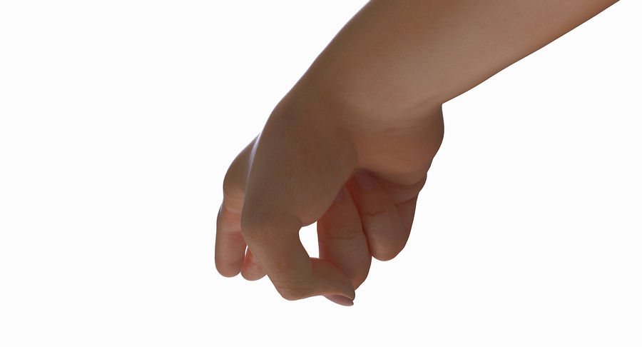 Female Arm A (Pose F Textured) Two Fingers royalty-free 3d model - Preview no. 23