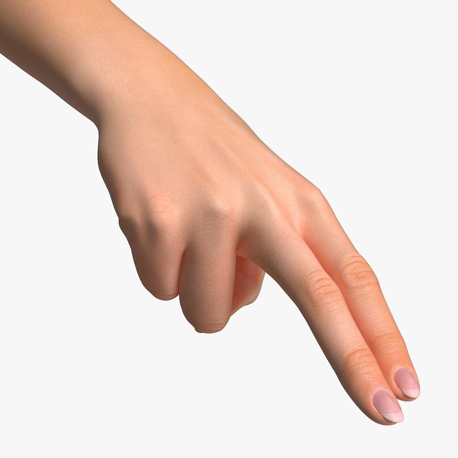 Female Arm A (Pose F Textured) Two Fingers royalty-free 3d model - Preview no. 1