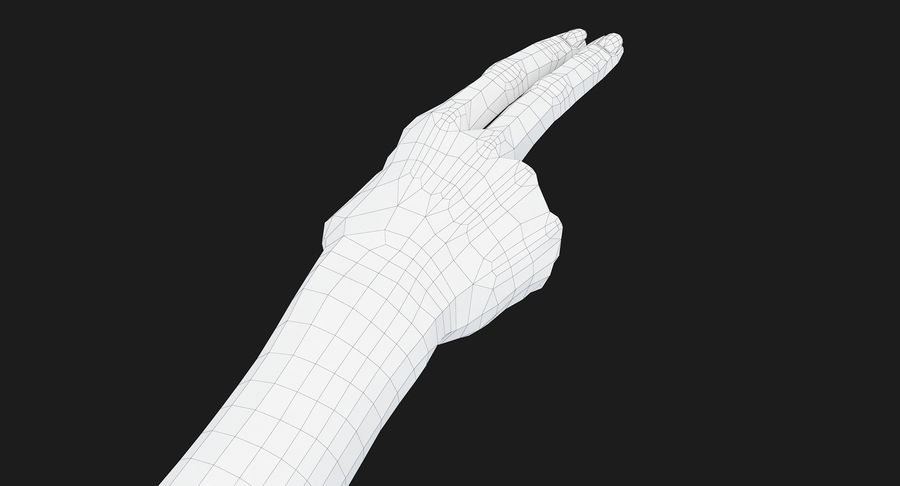 Female Arm A (Pose F Textured) Two Fingers royalty-free 3d model - Preview no. 45