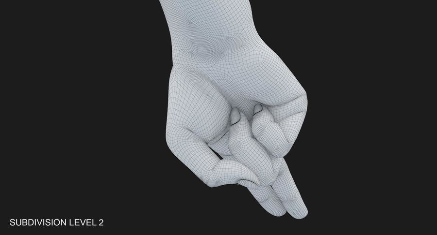 Female Arm A (Pose F Textured) Two Fingers royalty-free 3d model - Preview no. 48