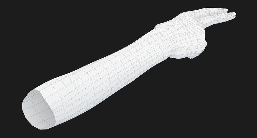 Female Arm A (Pose F Textured) Two Fingers royalty-free 3d model - Preview no. 38