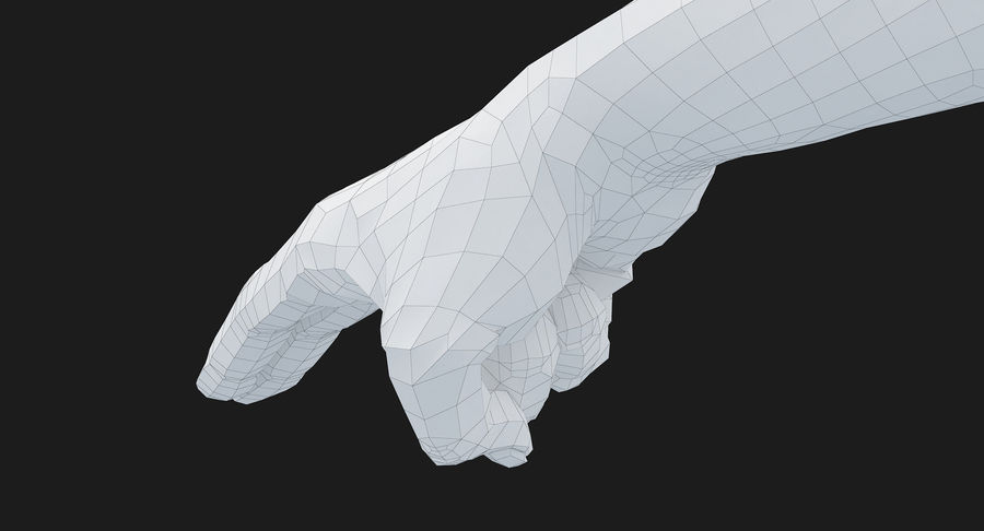 Female Arm A (Pose F Textured) Two Fingers royalty-free 3d model - Preview no. 50