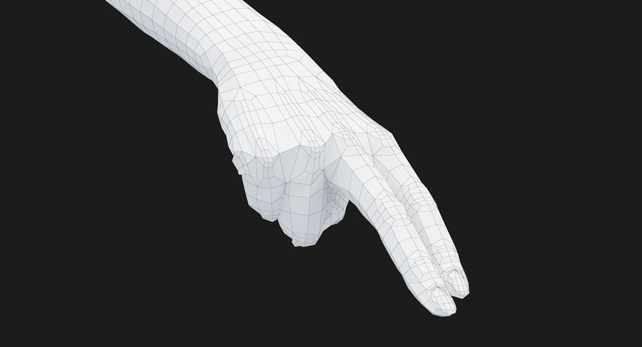 Female Arm A (Pose F Textured) Two Fingers royalty-free 3d model - Preview no. 54