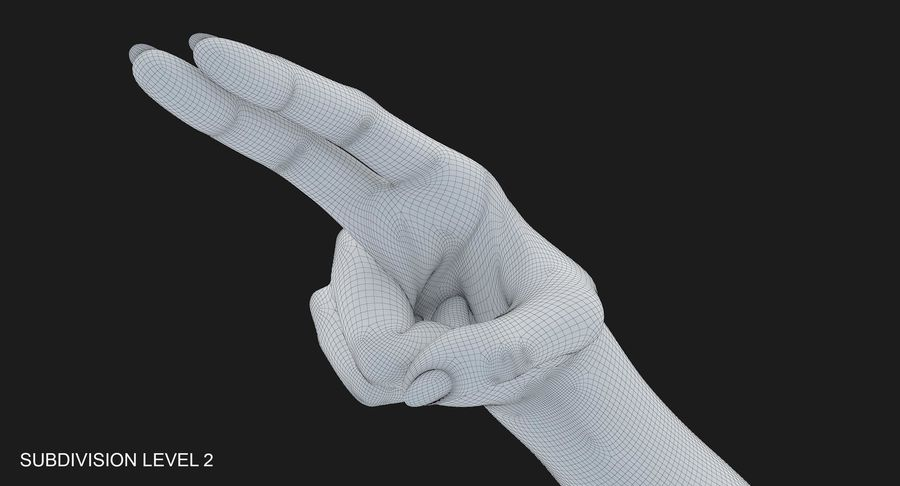 Female Arm A (Pose F Textured) Two Fingers royalty-free 3d model - Preview no. 42