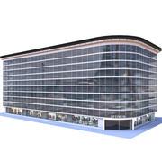 Modern Apartment Building 15 3d model