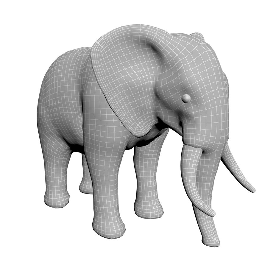 Elephant 3d realistic model royalty-free 3d model - Preview no. 7