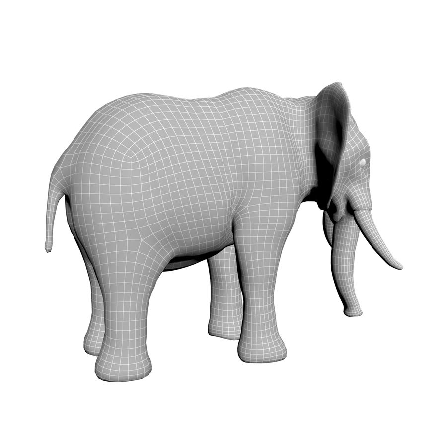 Elephant 3d realistic model royalty-free 3d model - Preview no. 8