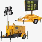 Two Construction Equipments 3d model