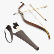 Antique Bow and Letaher Quiver 3D Models Collection 3d model
