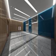 Elevator Lobby 3d model