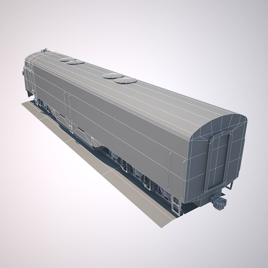 Diesel Train Engine royalty-free 3d model - Preview no. 9
