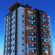 Nacht modern gebouw 2 3d model