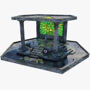 Altar de espadas maestras modelo 3d