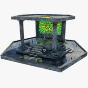Master Swords Altar 3d model