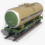 Eisenbahn-Kesselwagen klar 3d model