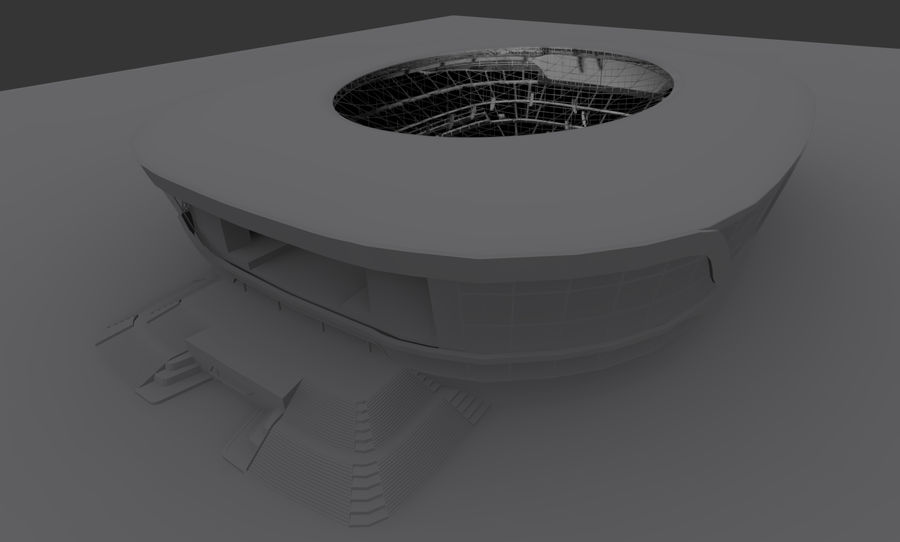 LV Stadium royalty-free 3d model - Preview no. 3