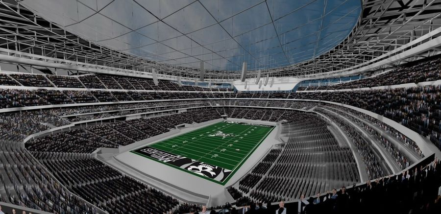 LV Stadium royalty-free 3d model - Preview no. 1