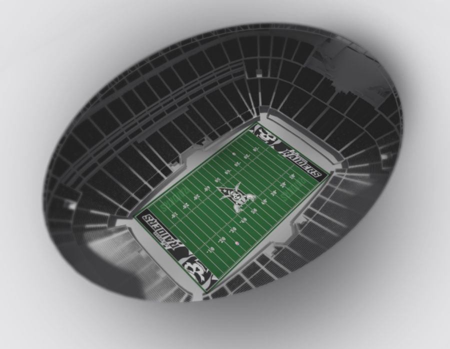 LV Stadium royalty-free 3d model - Preview no. 6