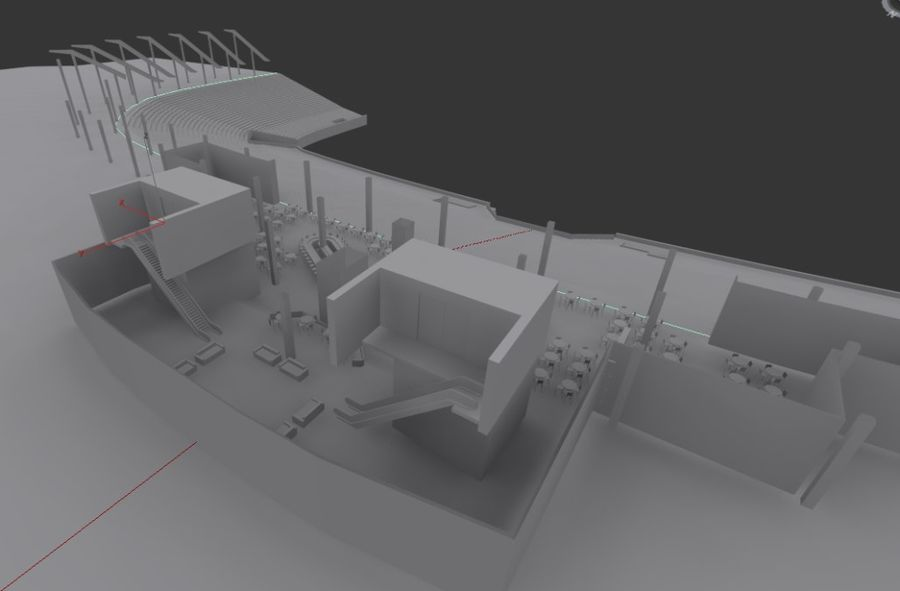 LV Stadium royalty-free 3d model - Preview no. 4