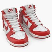 Nike Kaykay Ayakkabısı Dunk High Pro Red 3d model