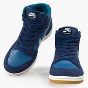 Kaykay Ayakkabısı Nike SB Dunk High Pro Blue 3d model