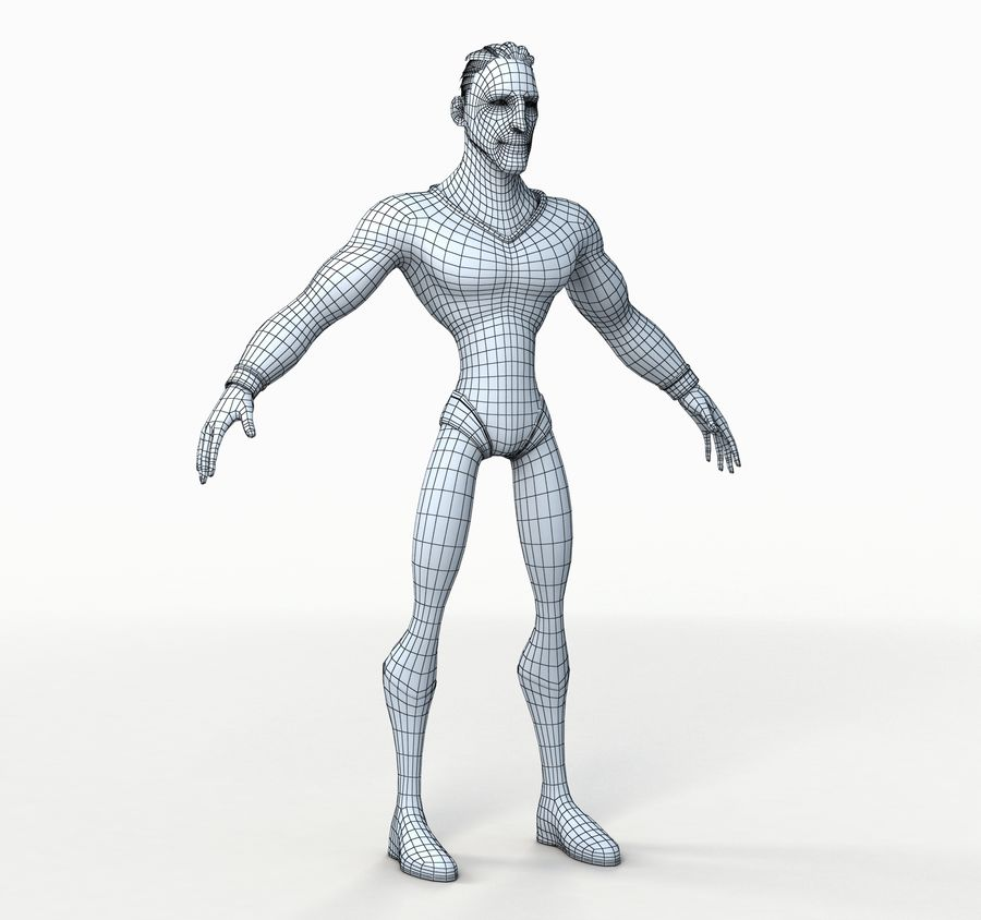 Super Hero royalty-free 3d model - Preview no. 15