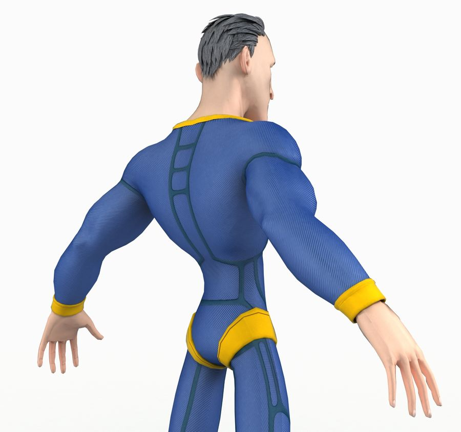 Super Hero royalty-free 3d model - Preview no. 7