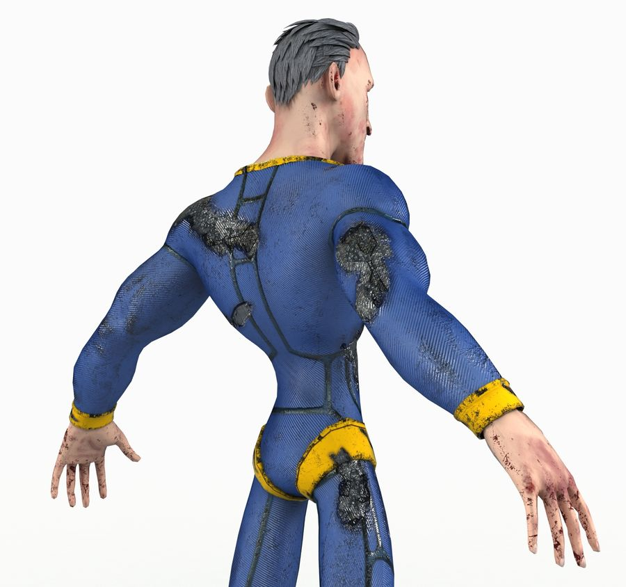 Super Hero royalty-free 3d model - Preview no. 13