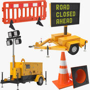 Construction Site Equipment 3d model