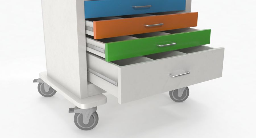Pediatric Medical Cart royalty-free 3d model - Preview no. 20
