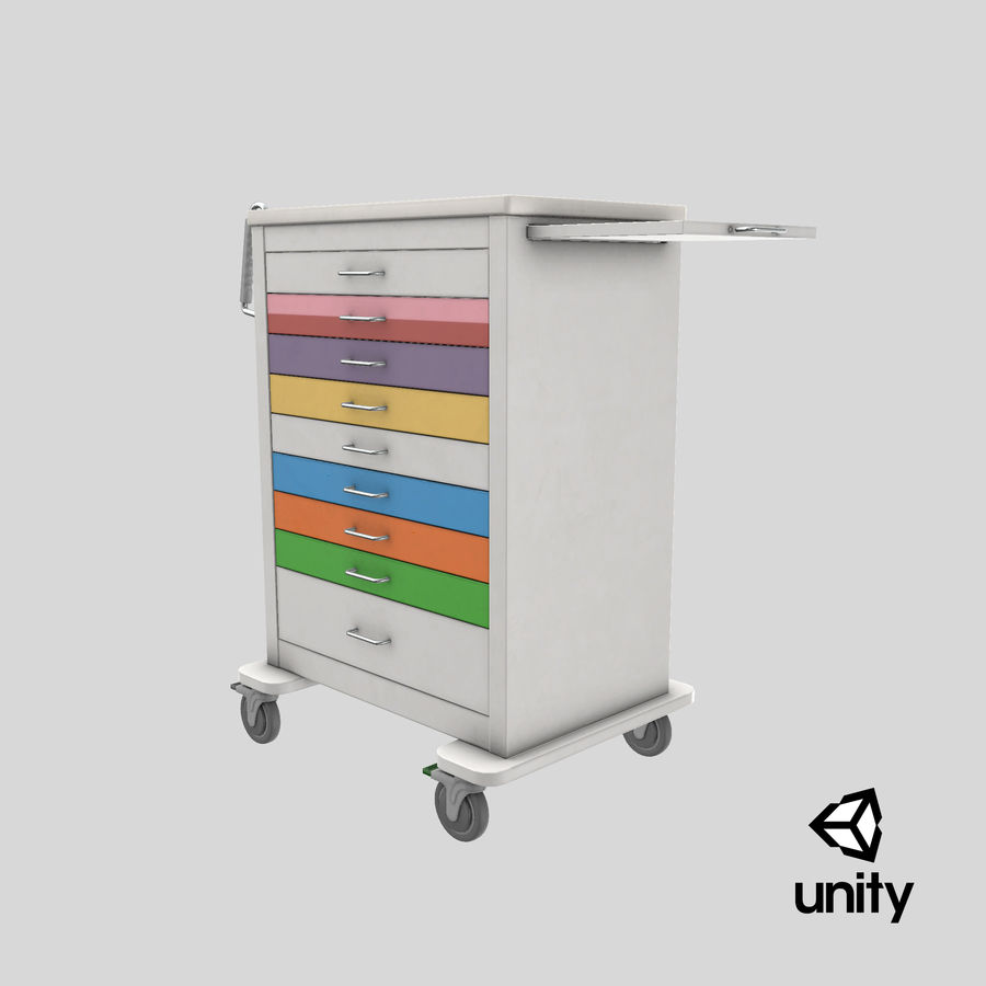Pediatric Medical Cart royalty-free 3d model - Preview no. 53