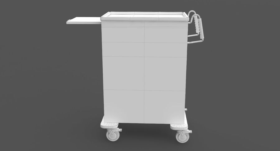 Pediatric Medical Cart royalty-free 3d model - Preview no. 33