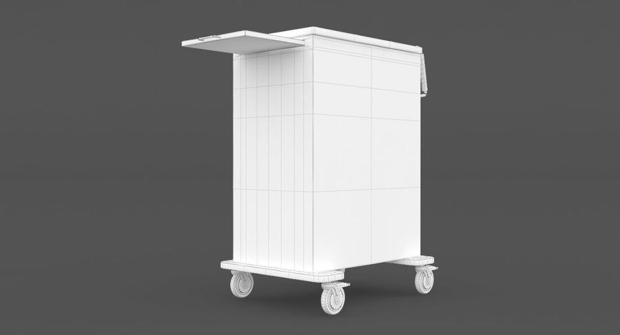 Pediatric Medical Cart royalty-free 3d model - Preview no. 34