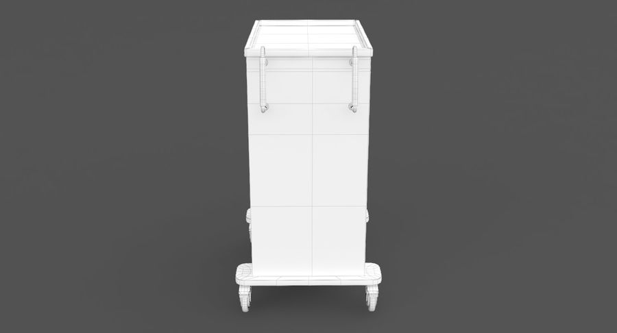 Pediatric Medical Cart royalty-free 3d model - Preview no. 31