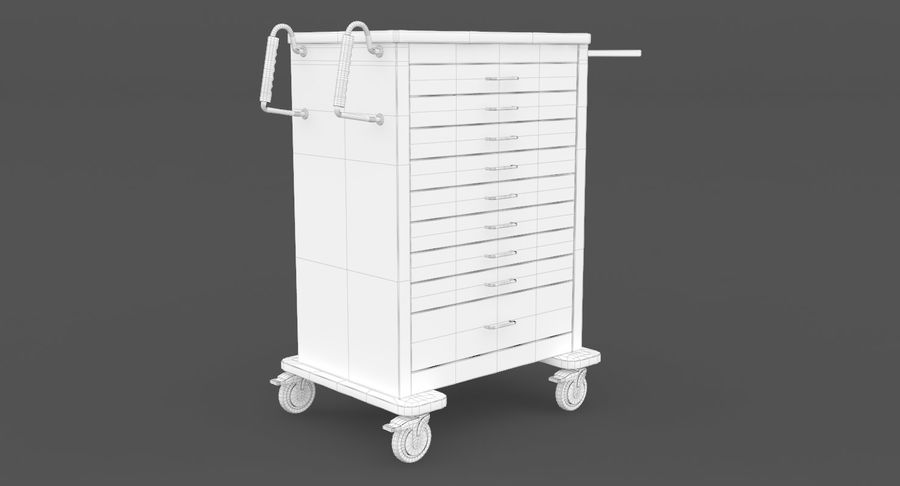 Pediatric Medical Cart royalty-free 3d model - Preview no. 29