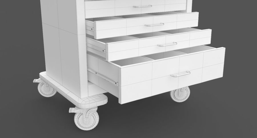 Pediatric Medical Cart royalty-free 3d model - Preview no. 40