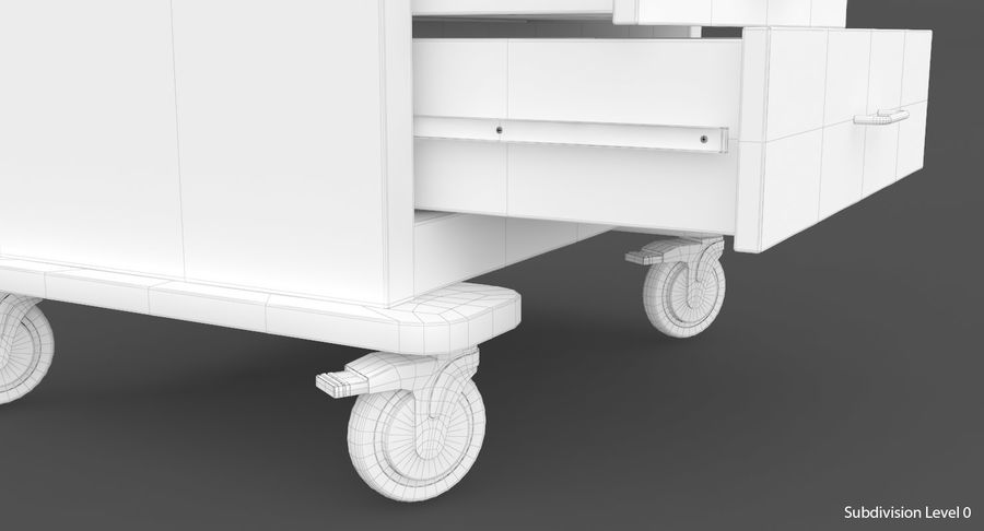 Pediatric Medical Cart royalty-free 3d model - Preview no. 41