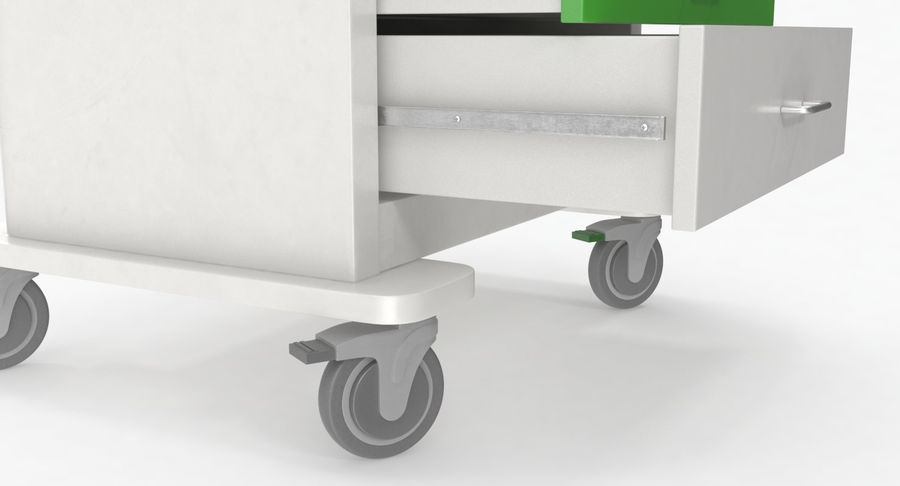 Pediatric Medical Cart royalty-free 3d model - Preview no. 21