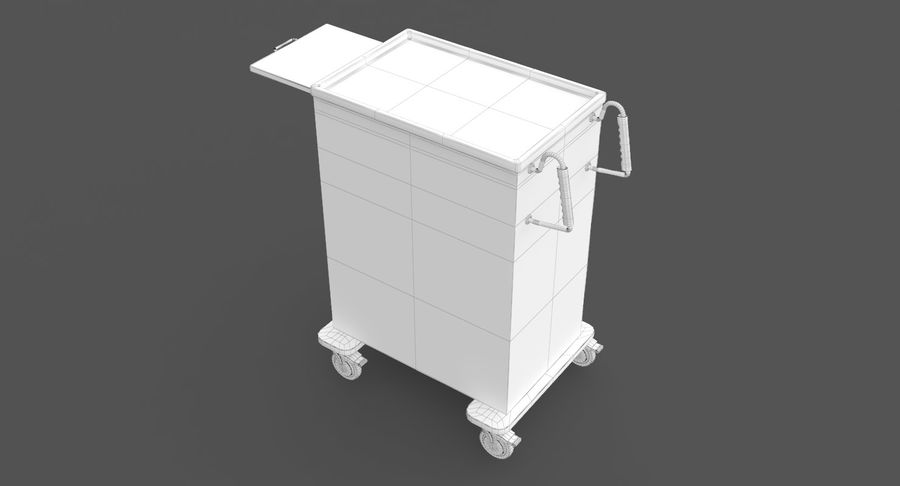 Pediatric Medical Cart royalty-free 3d model - Preview no. 32